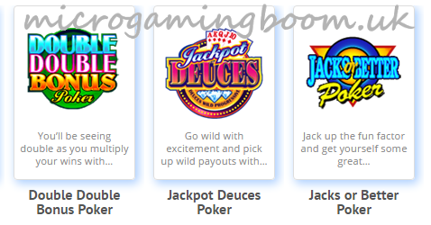 Microgaming Casinos Video Poker